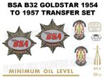 BSA B32 1954 to 1957 Transfers Decal Set (1)